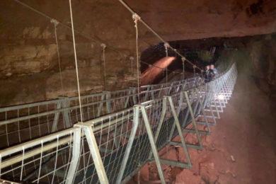 The Worlds longest underground suspension bridge