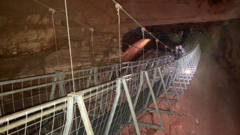 The Worlds longest underground suspension bridge