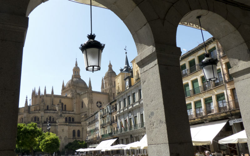 The Segovia Cathedral and Plaza Mayor