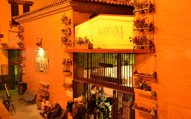 The entrance to Triana Market Seville, Spain