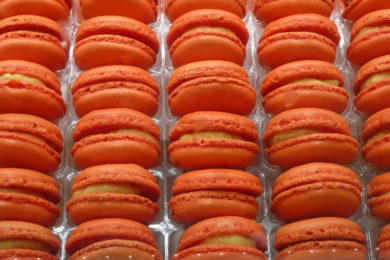 Tasty macaroons during a food tour of Paris