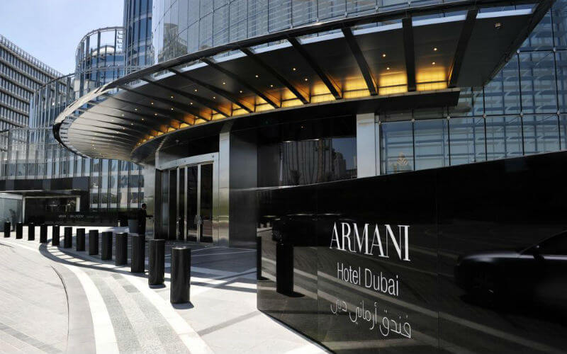 The Armani Hotel is luxurious