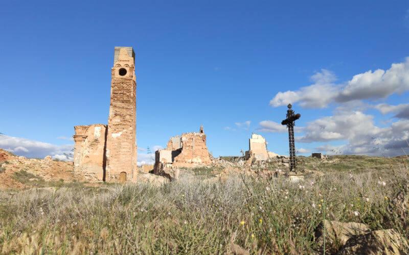 The cross of the fallen in Belchite