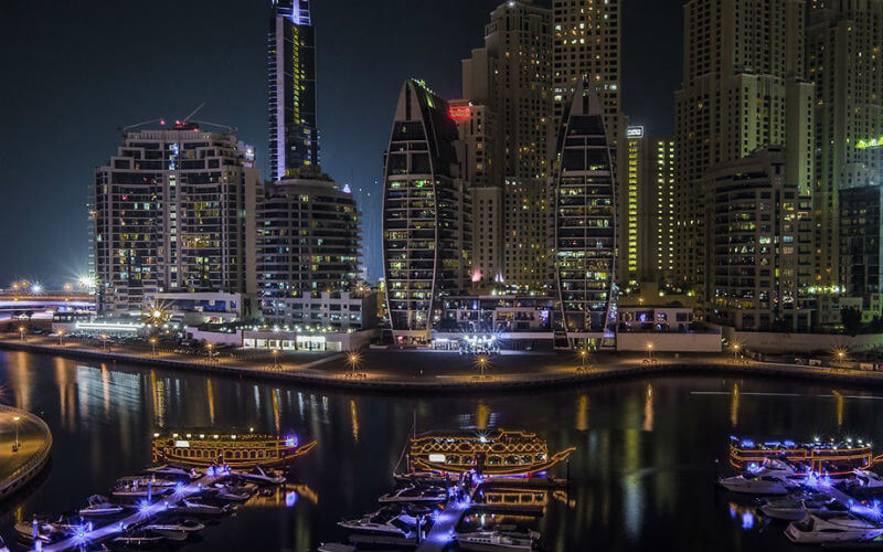 The stunning Dubai Marina is a great place to stay