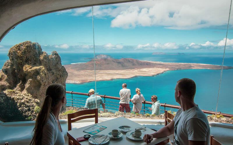 The viewpoint, Mirador del Rio, is easily accessed if you hire a car in Lanzarote