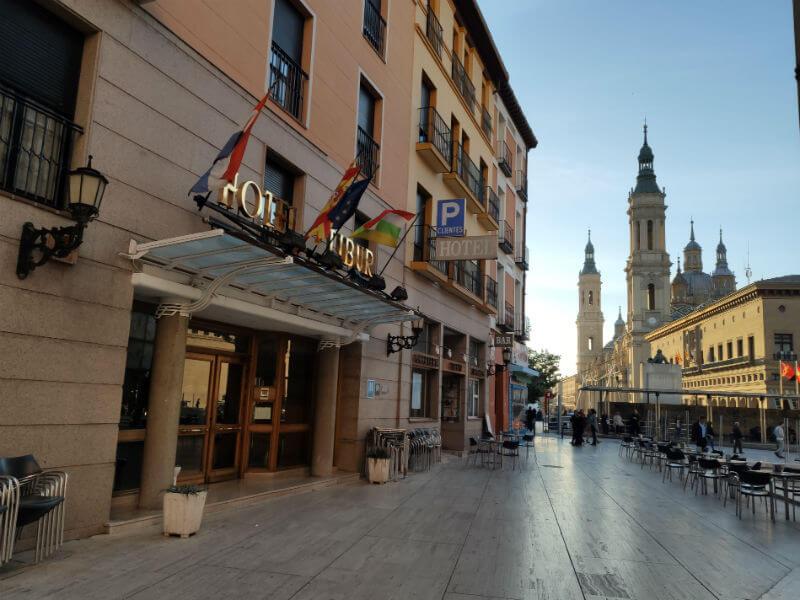 The Hotel Tibur in Plaza de SEO in Zaragoza