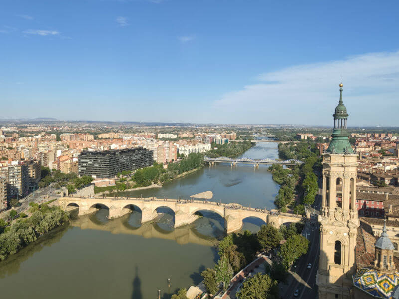 What to expect if you take the elevator and steps to the top of the tower in the Basílica de Nuestra Señora del Pilar Zaragoza