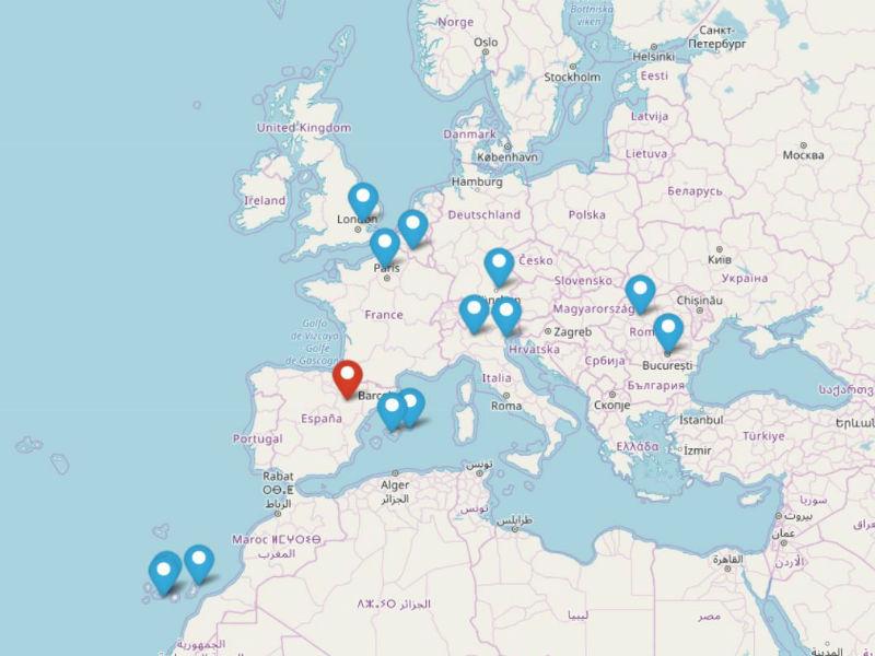 Zaragoza airports flies to 14 different major European destinations