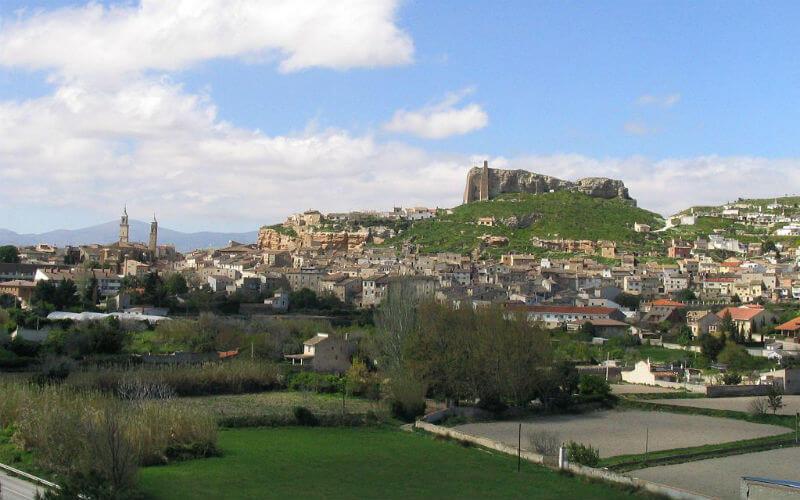 The town of Borja in aragon