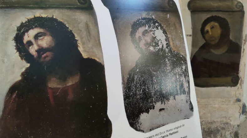 Spanish art restoration disaster Monkey Jesus