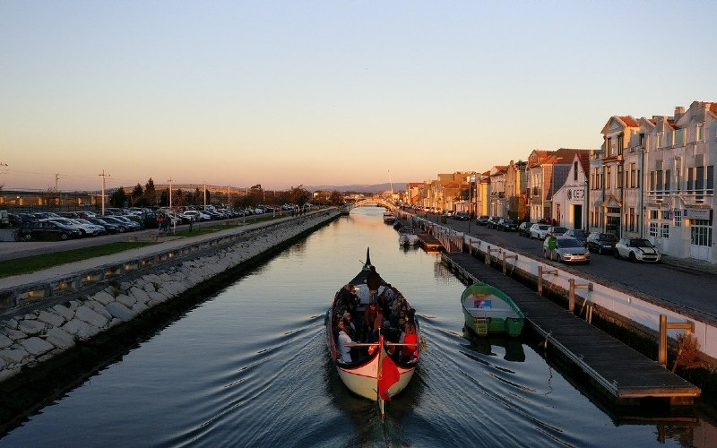 Aveiro is known as the Portuguese Venice due to the network of canals that run though the city