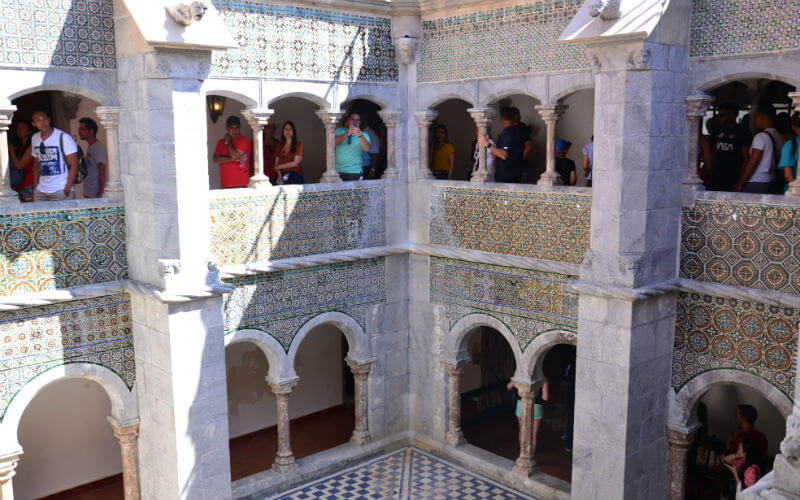 Courtyard in Pena Palace