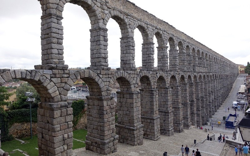 The Segovia aqueduct is my best daytrip from Madrid.