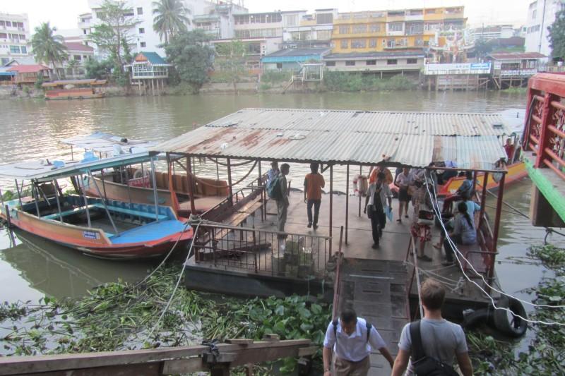 Boat across the Chao Phraya River