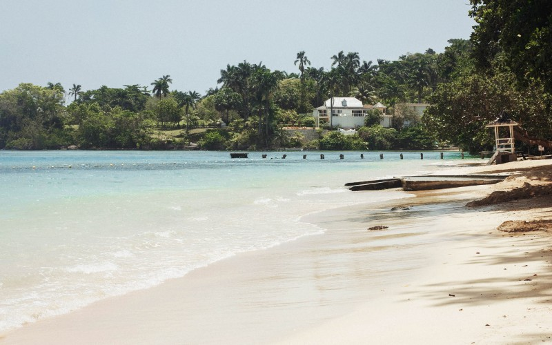 A stunning beach at Dunn's River Falls & Park, Ocho Rios, Jamaica