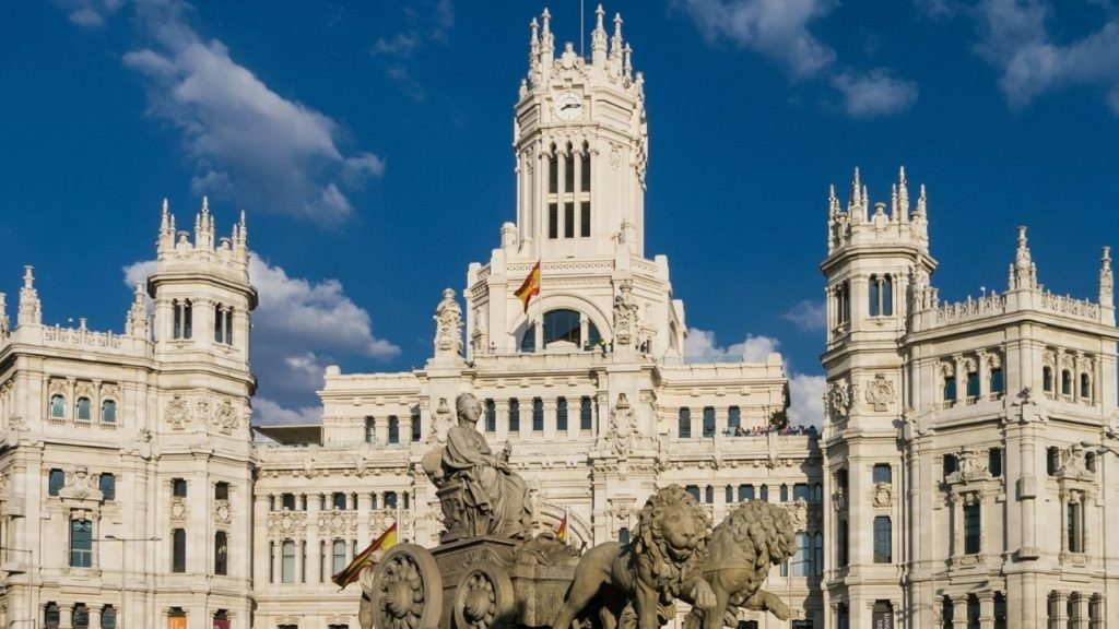 Plaza Cibeles is a must see tourist stop in Madrid city centre
