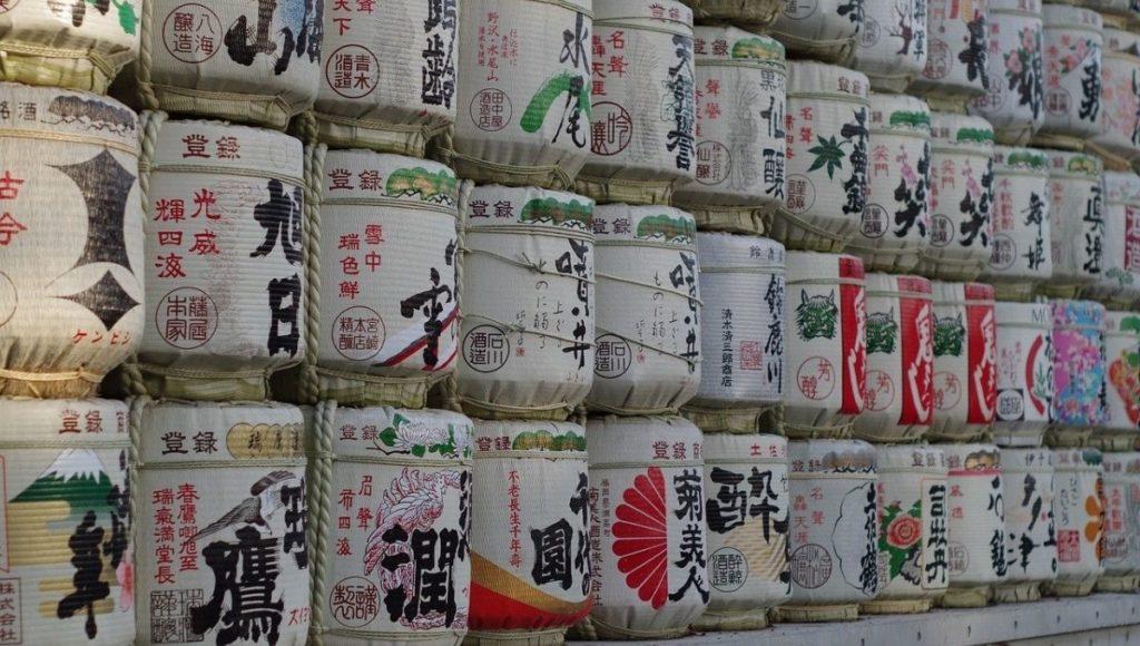 Wish barrels at Meiji Jingu Shrine