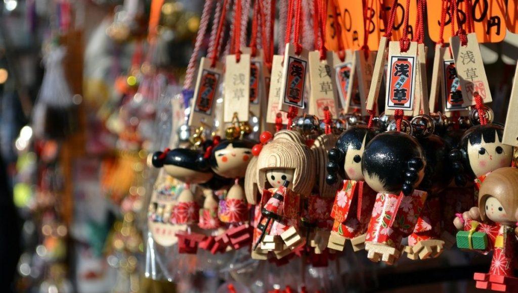 souvenir shopping in Komachi Dori