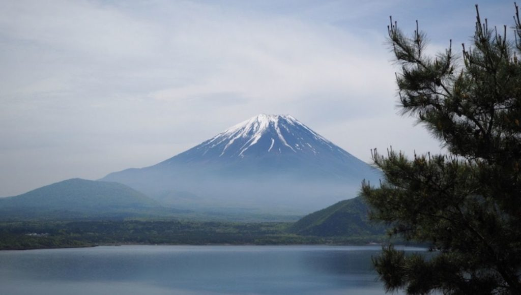 Mt Fuji viewed from Lake Motosuko