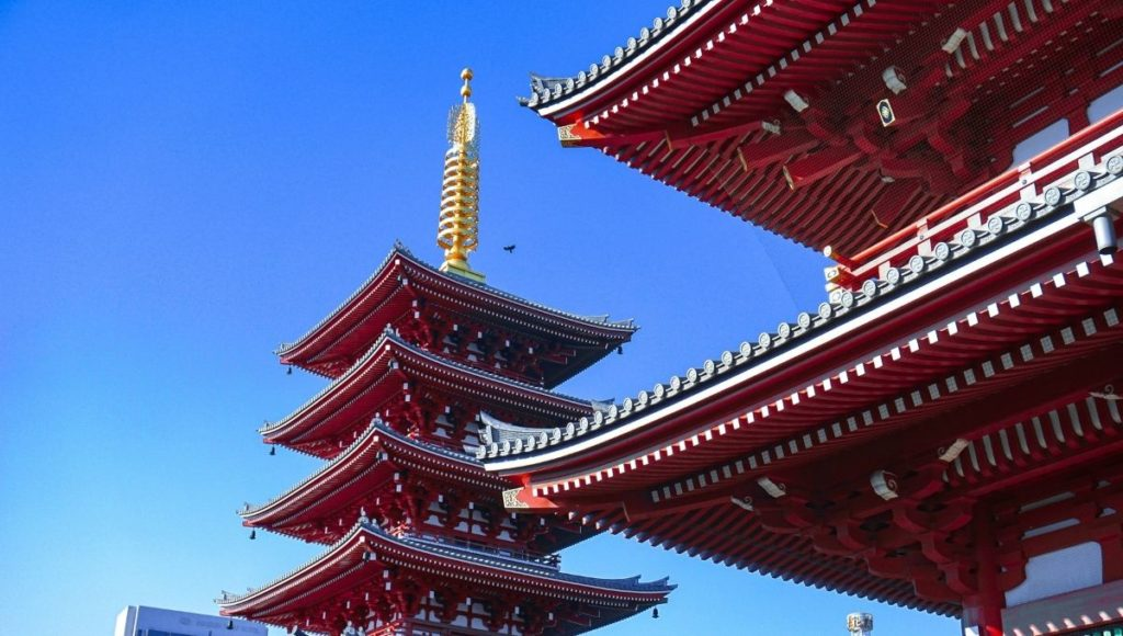 A famous temple in Asakusa