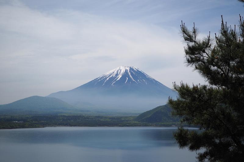 A view of Mt Fuji from Lake Motosu
