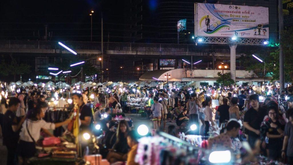 A night market in thailand