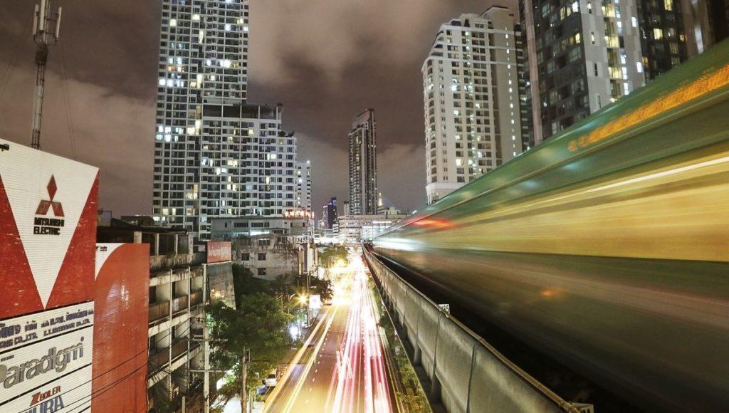 The BTS Skytrain in Bangkok