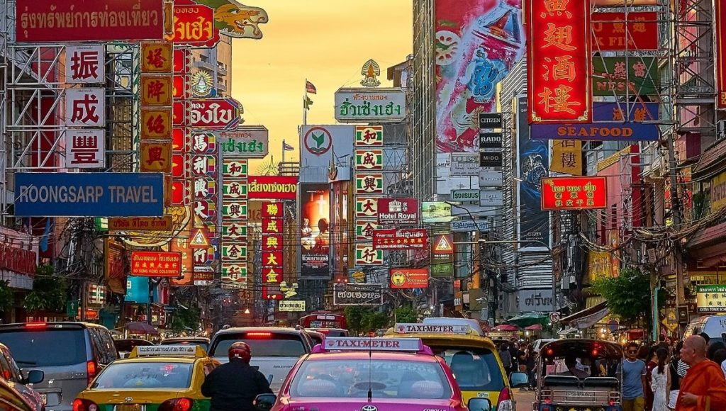 A photo of Chinatown in Bangkok