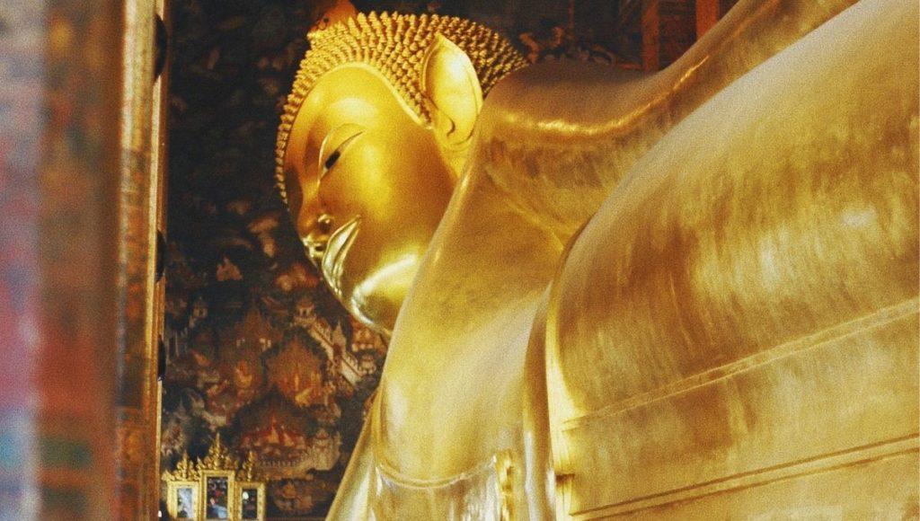 The golden Buddha in Wat Pho Bangkok