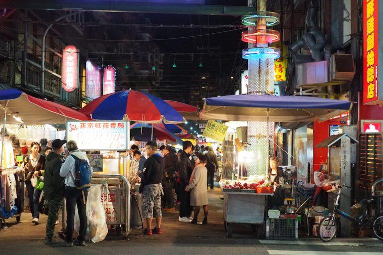 Linjiang Night Market in Taipei