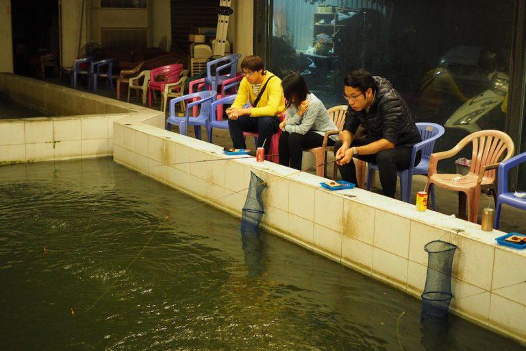 Shrimp Fishing in Taipei