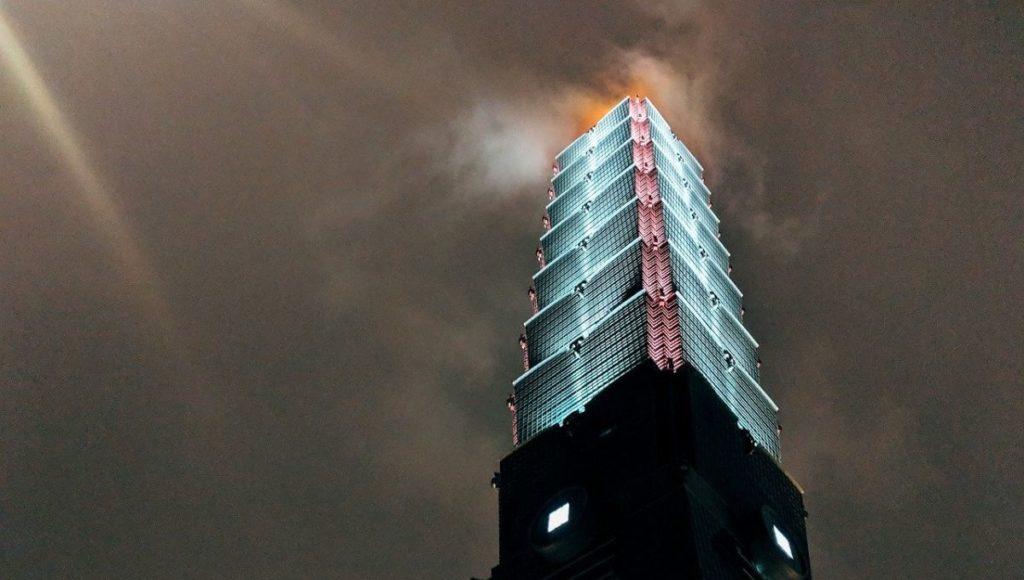 Taipei 101 from the bottom