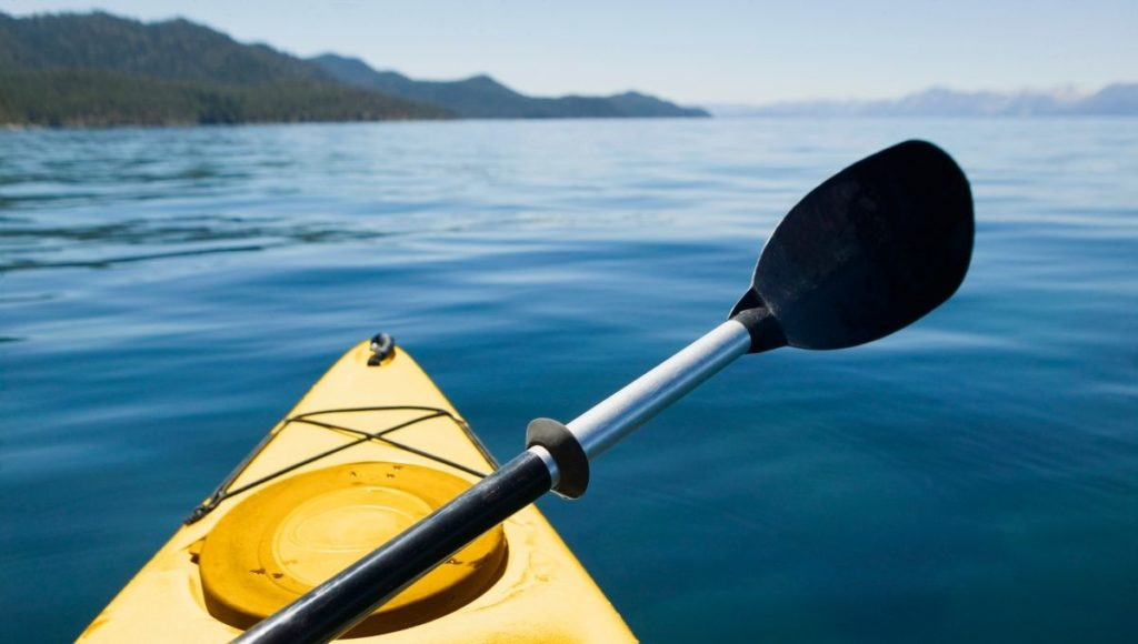 A kayak on the water