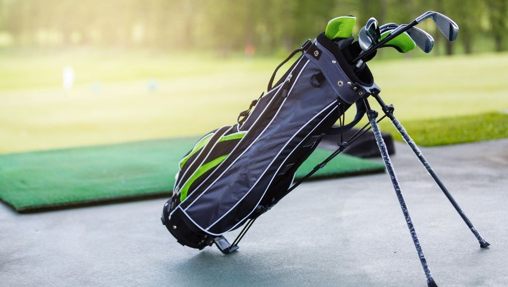Golf clubs packing ready for traveling