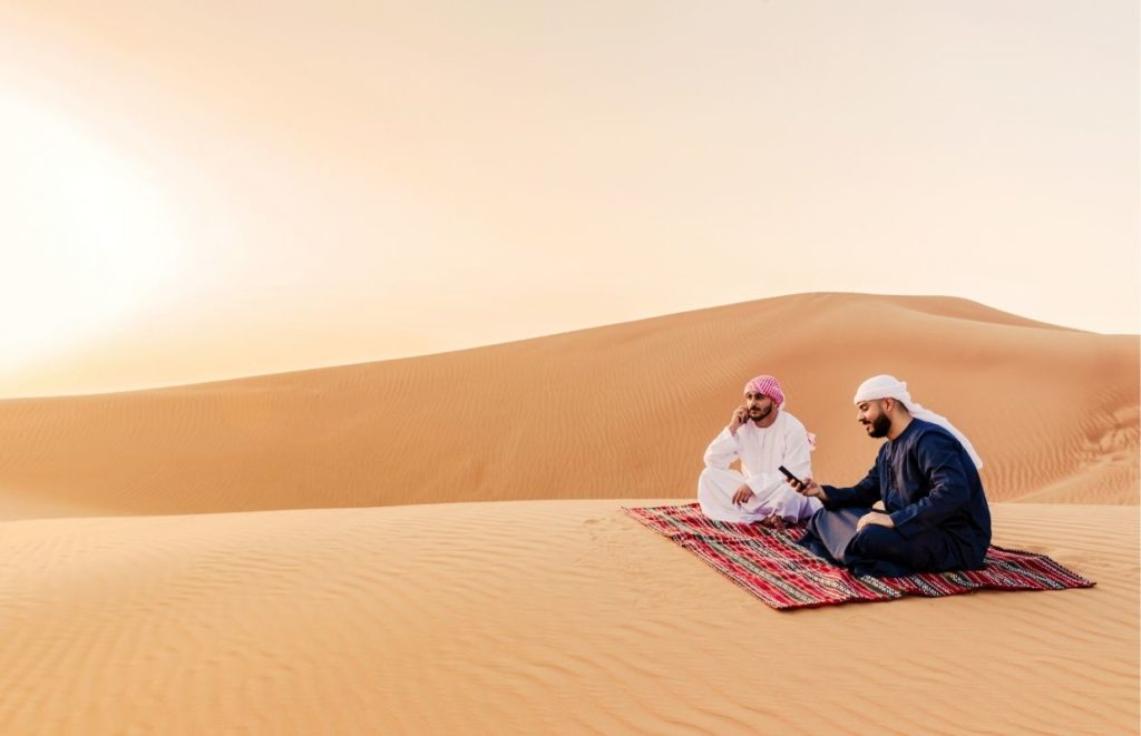 Two men in the desery