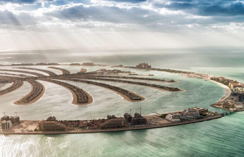 a Sky-High View of Palm Jumeirah, Dubai